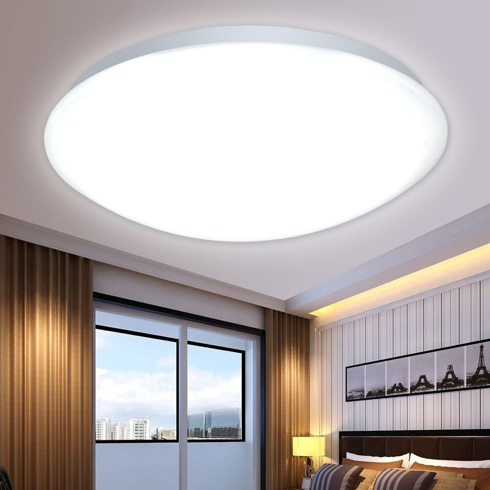 Best New Led Flush Mounted Ceiling Light Fixtures Living With Pictures