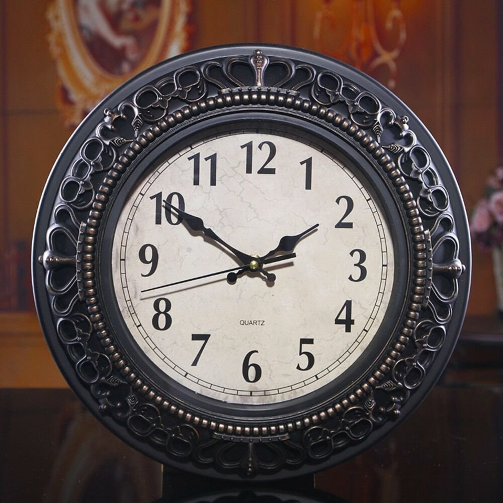 Best Wall Clock Living Room Bedroom Decor Antique Retro Style With Pictures