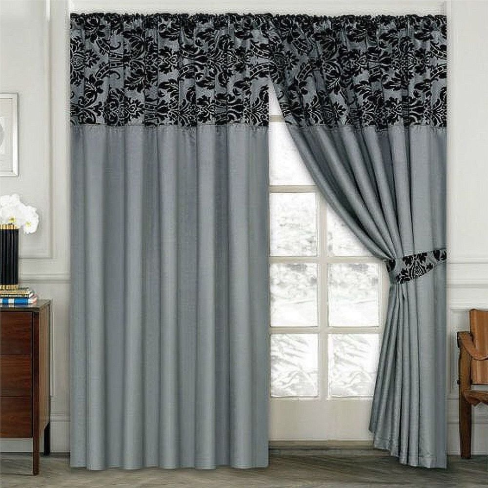 Best Damask Half Flock Pair Of Bedroom Curtain Living Room With Pictures