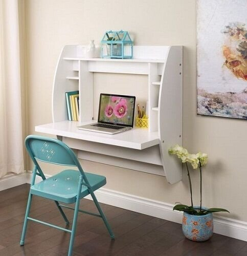 Best Computer Desk W Storage Office Furniture Bedroom Floating With Pictures