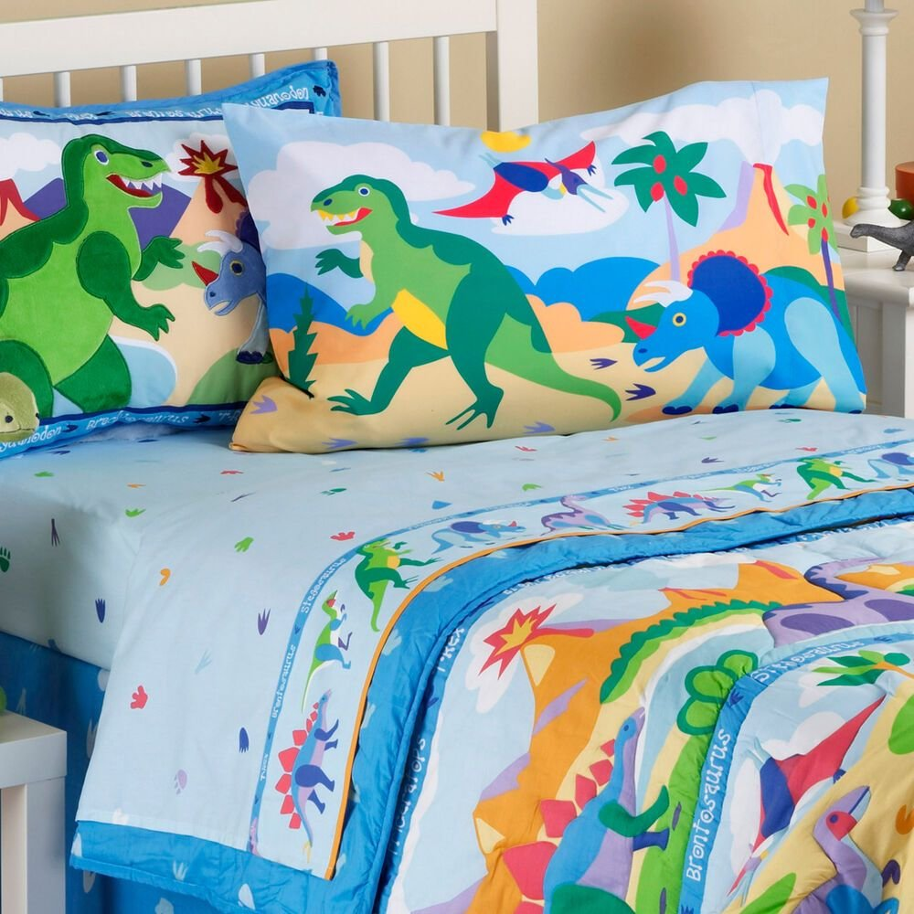Best Dinosaur Bedding Toddler Sheet Set Kids Nursery Boys Girls With Pictures