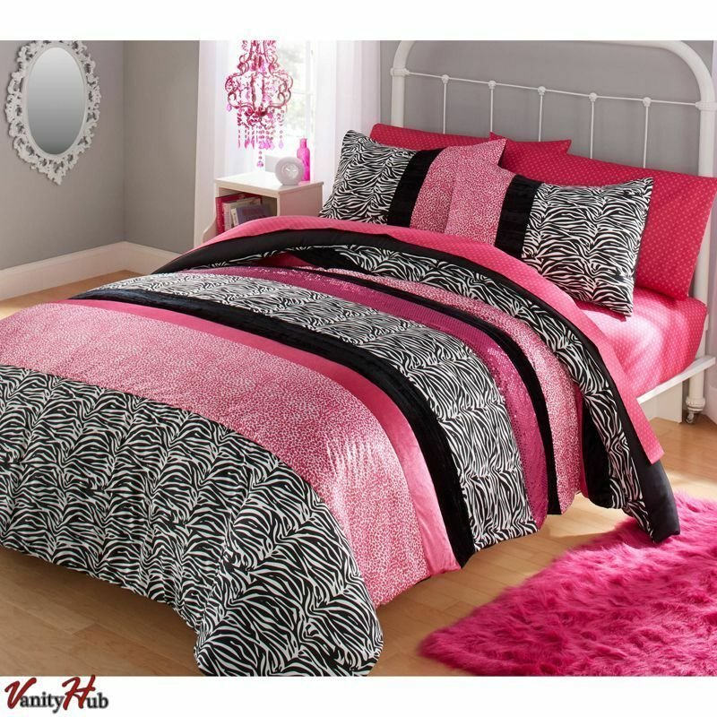 Best Girls Pink Comforter Set Queen Full Size Bedding With Pictures