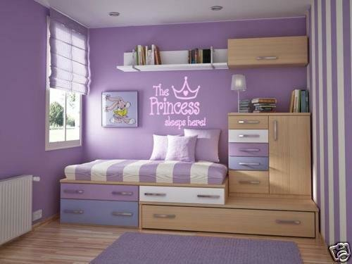 Best Princess Sleeps Here Girls T**N Bedroom Wall Decal 36 Ebay With Pictures