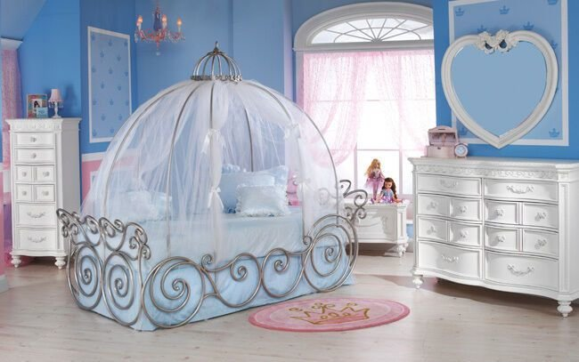 Best Disney Princess 7 Piece Full Carriage Bed Bedroom Set With Pictures