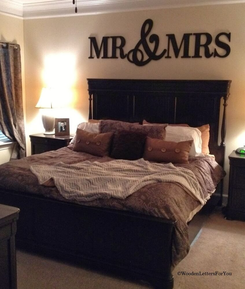 Best Mr Mrs Wood Letters Wall Décor Painted Wood Letters King With Pictures