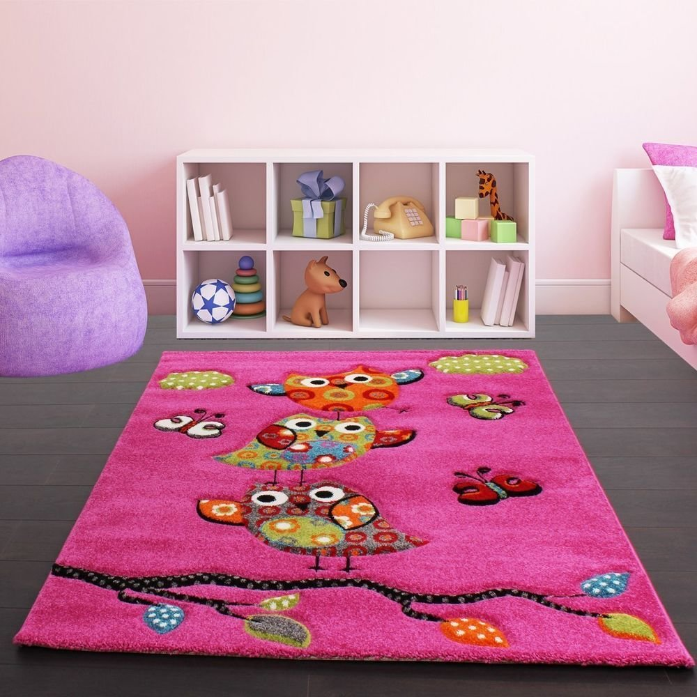 Best Kids Pink Rug Modern Design Carpet Soft Children Bedroom With Pictures