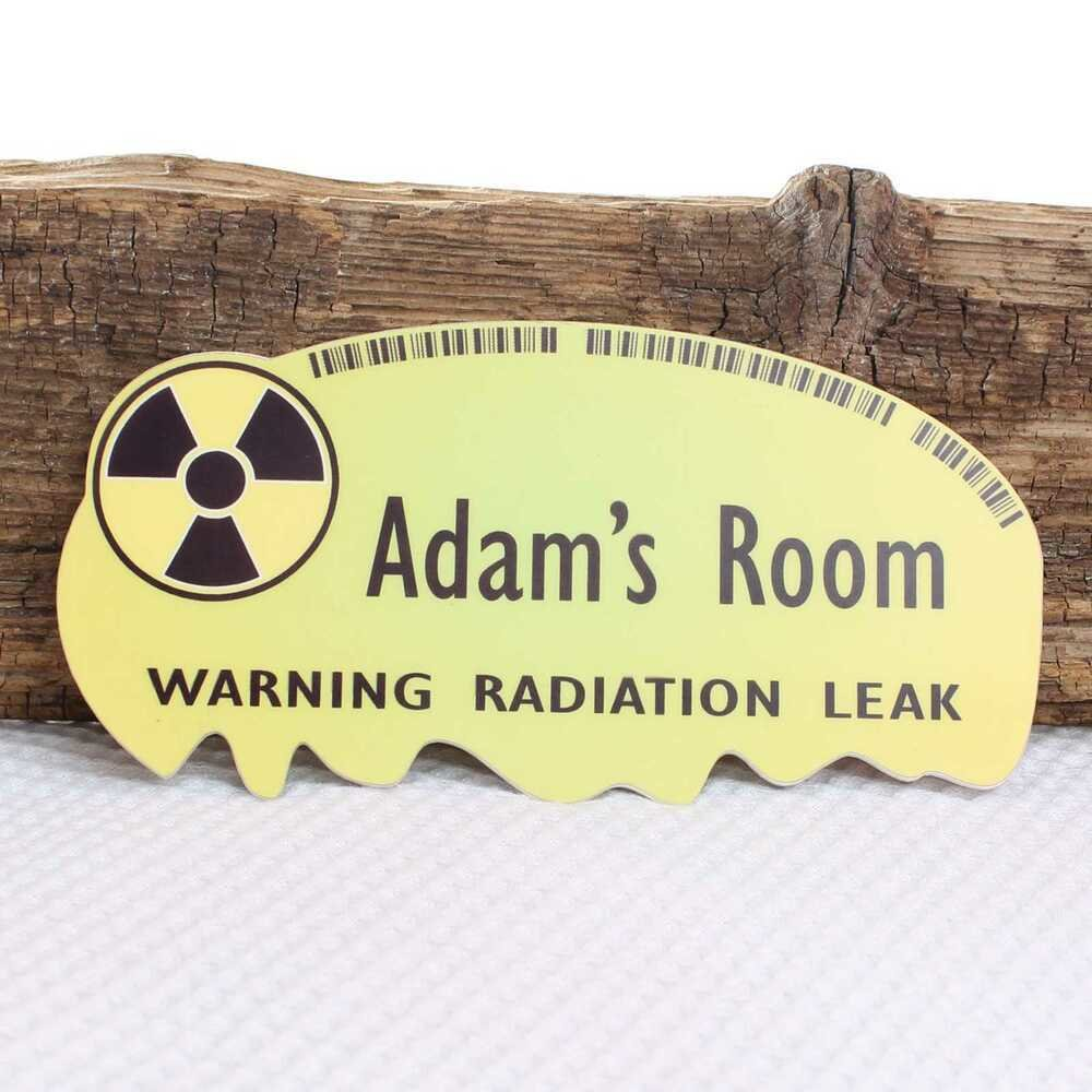 Best Personalised Door Name Plaque Radiation Warning Zombie With Pictures