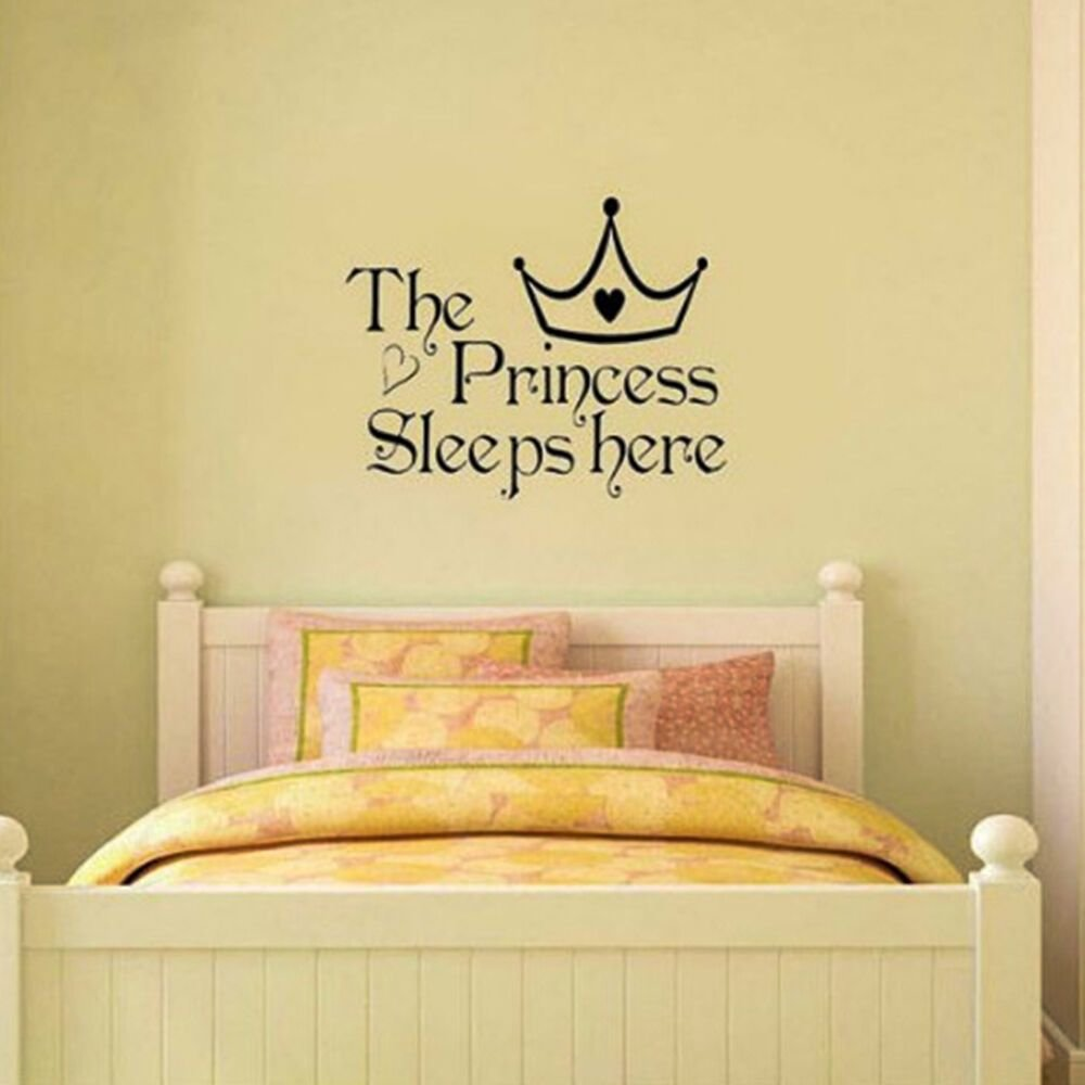 Best Great Princess Removable Wall Sticker Girls Bedroom Decor Baby Room Decal Art Ebay With Pictures