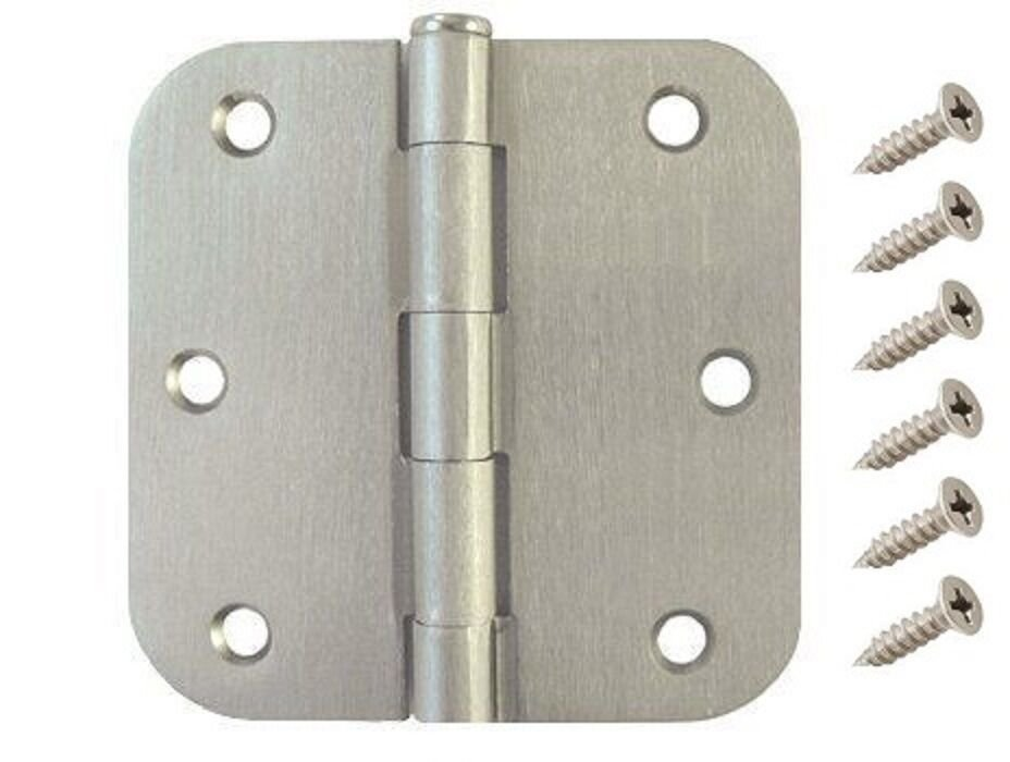 Best 3 5 Satin Nickel Interior Door Hinge With 5 8 Radius With Pictures