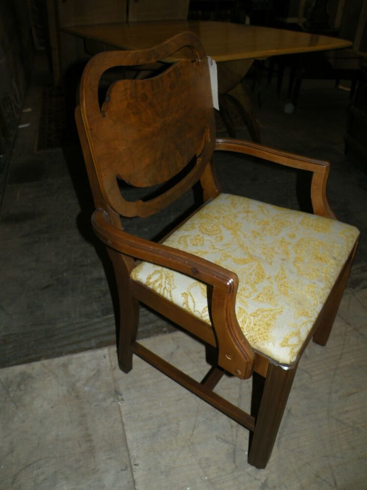 Best Antique Uphostered Art Deco Bedroom Vanity Chair Dining Chair Ebay With Pictures