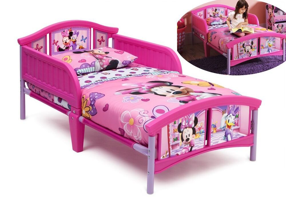 Best Pink Minnie Mouse Toddler Bed Bedroom Furniture Kids Girls With Pictures