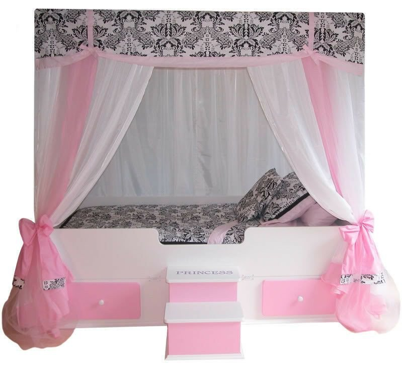 Best Sophia Princess Full Canopy Bed Girls Bed Girls Bedroom With Pictures