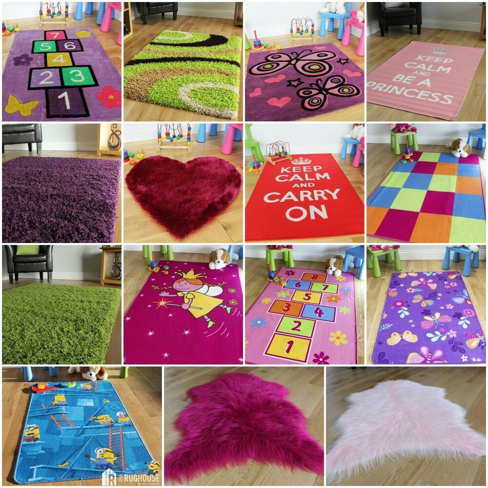 Best New Girls Bedroom Pink Purple Red Cheap Rugs Small Soft With Pictures