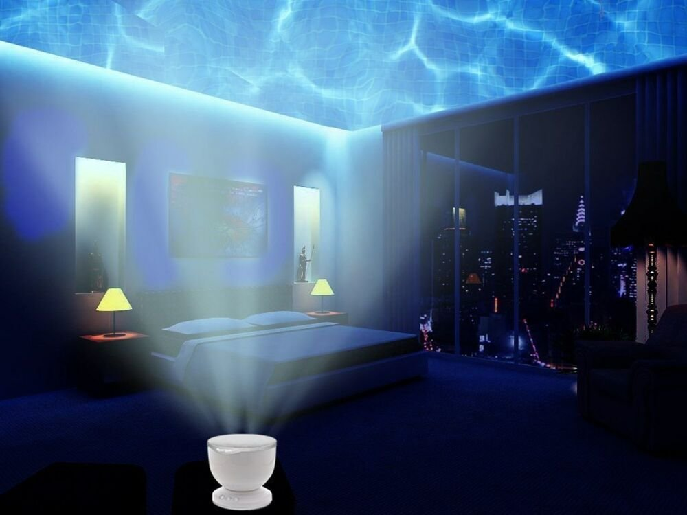 Best Night Light Projector Ocean Wave And Music Player Bedroom Display Lights Indoor Ebay With Pictures