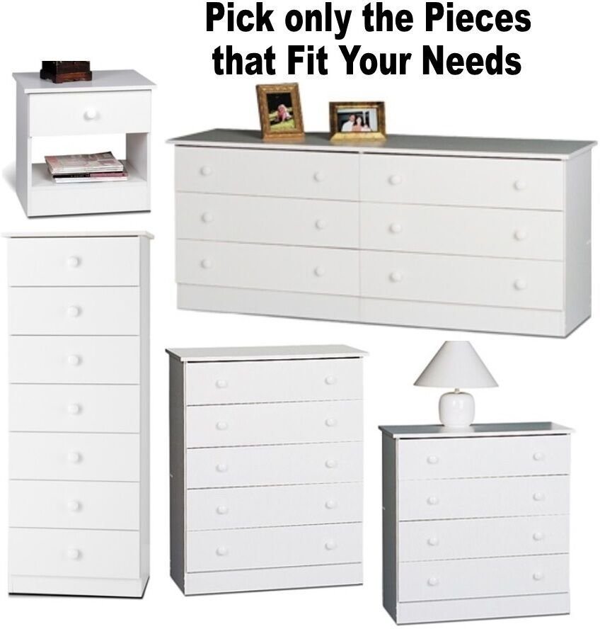 Best White Bedroom Furniture Set Dresser Nightstands Chest With Pictures