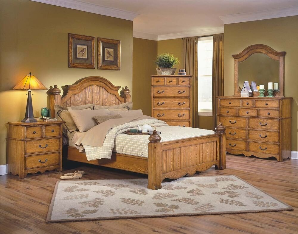 Best 1Pc Traditional Eastern King Size Poster Bed Bedroom Furniture Toffee Color Ebay With Pictures