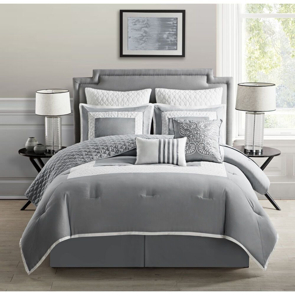 Best Vcny Monica 9 Piece Comforter Set With Coverlet Ebay With Pictures