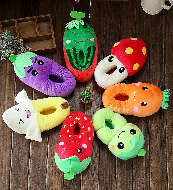 Best Cute Slippers Unisex Bedroom House Shoes Vegetable Fruit With Pictures