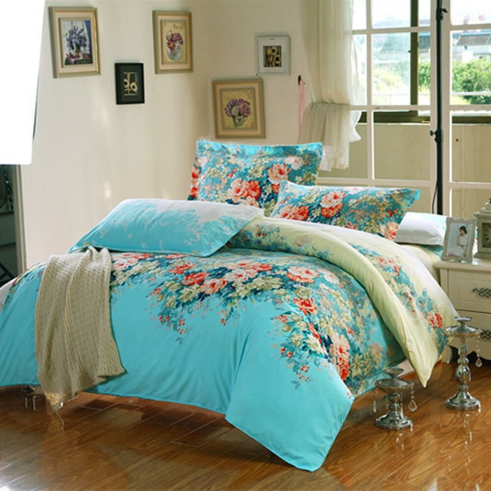 Best Bedding Sets King Queen Full Size Duvet Cover Bed With Pillowcase Bedclothes Ebay With Pictures
