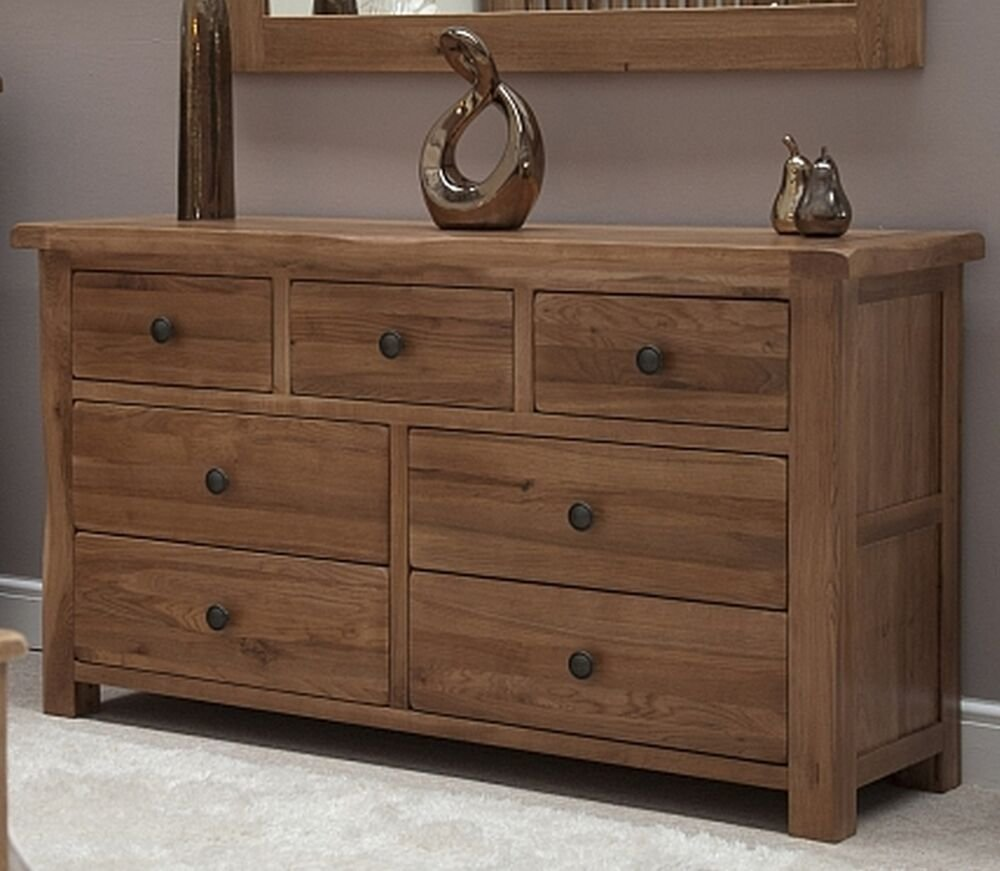 Best Warwick Solid Oak Bedroom Furniture Large Wide Multi Chest With Pictures