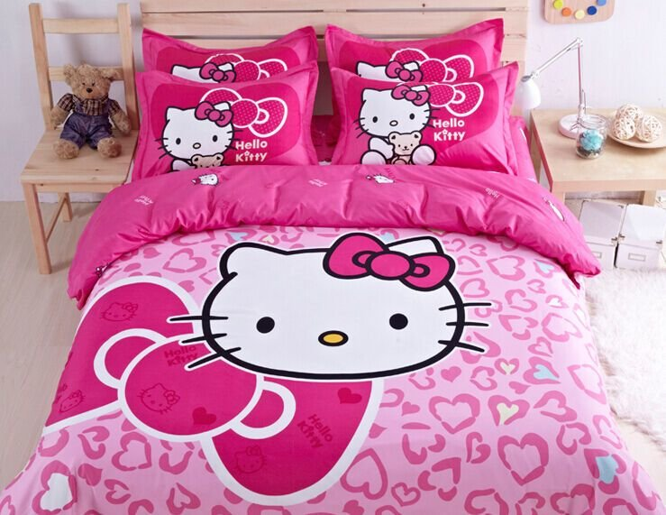 Best Cute Hello Kitty Bedding Duvet Quilt Cover Bedding Set With Pictures
