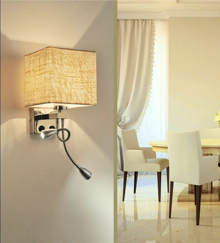 Best Modern Led Wall Light Bed Lamp Reading Light Hotel Bedroom With Pictures