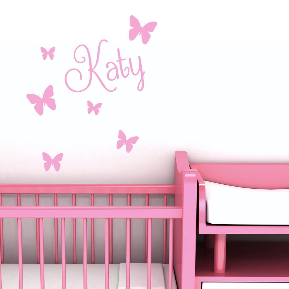 Best Personalised Name Butterfly Wall Art Custom Girls Bedroom With Pictures
