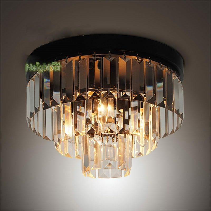 Best Modern Led Cake Crystal Ceiling Lights Chandelier Bedroom With Pictures