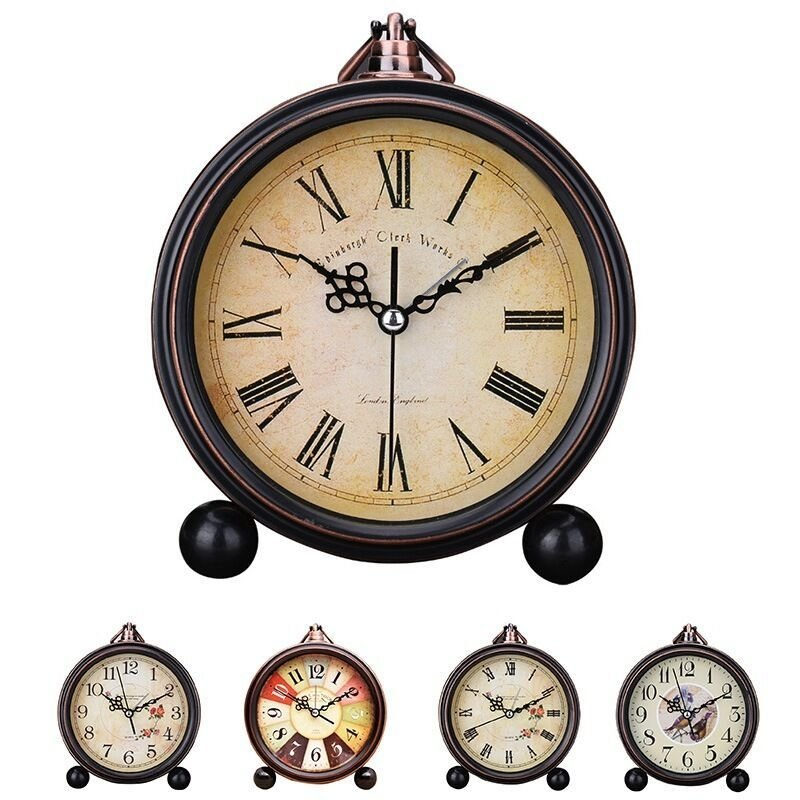 Best Hot Sale Alarm Clock Vintage Non Ticking Students Bedroom With Pictures