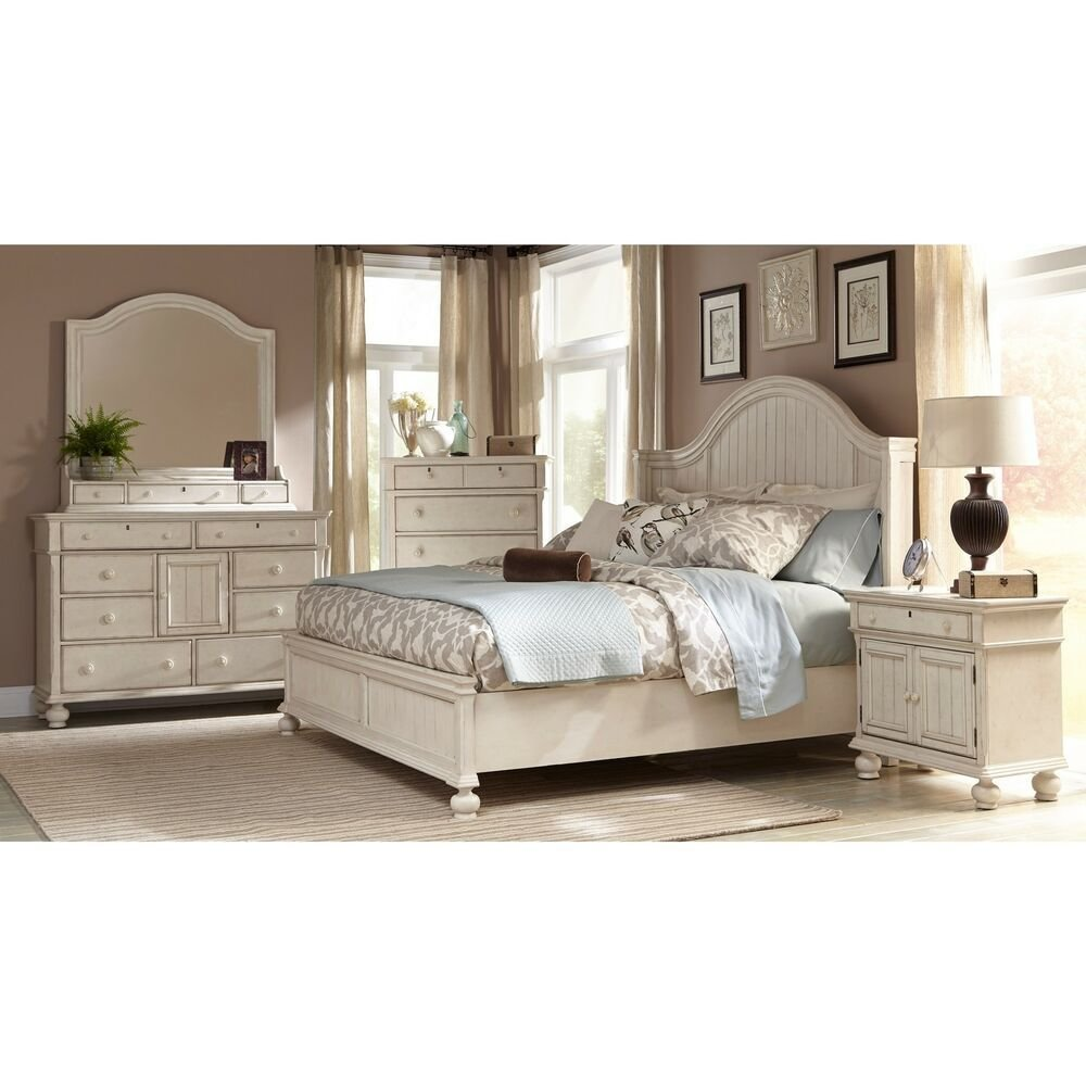 Best Greyson Living Laguna Antique White Panel Bed 6 Piece With Pictures