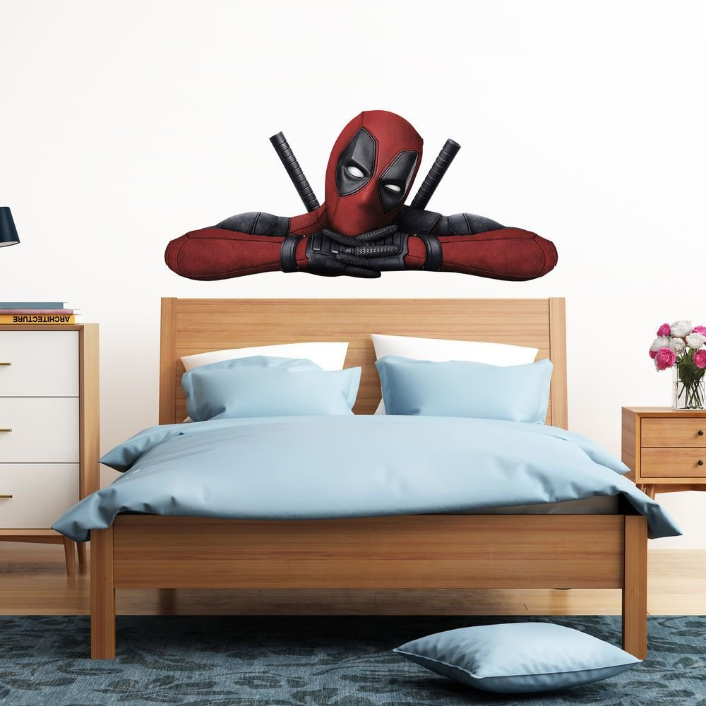 Best Deadpool Peeking Peeping Kids Boy Car Bedroom Decal Wall With Pictures