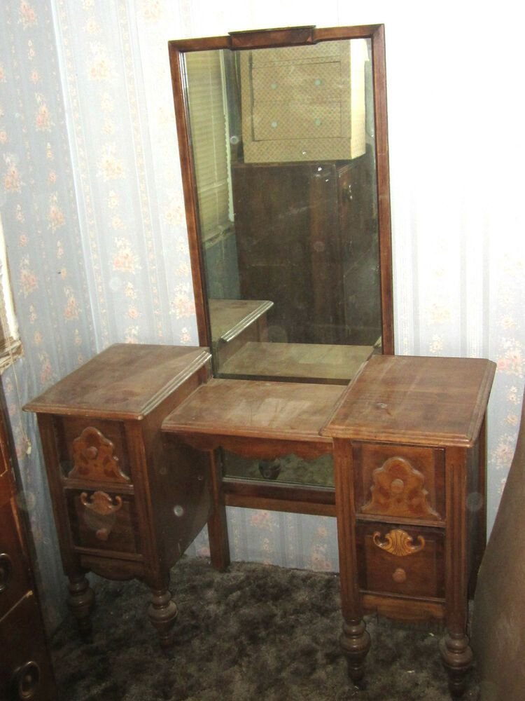 Best Antique Vintage 1800 S 1900 S Yr Bedroom Vanity Makeup With Pictures