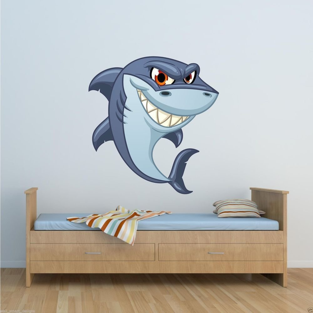 Best Full Colour Shark Sea Life Wall Art Sticker Decal Mural With Pictures