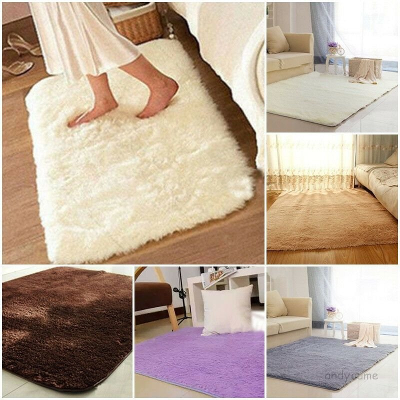 Best Absorbent Soft Shaggy Foam Rug Non Slip Bedroom Bathroom With Pictures