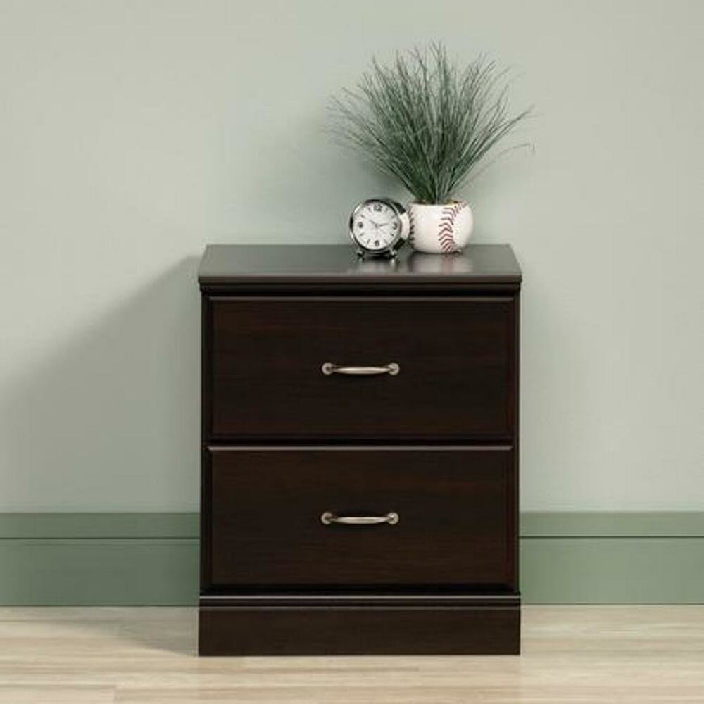 Best 2 Drawer Nightstand Side Night End Table Bedside Storage Stand Bedroom Furniture Ebay With Pictures