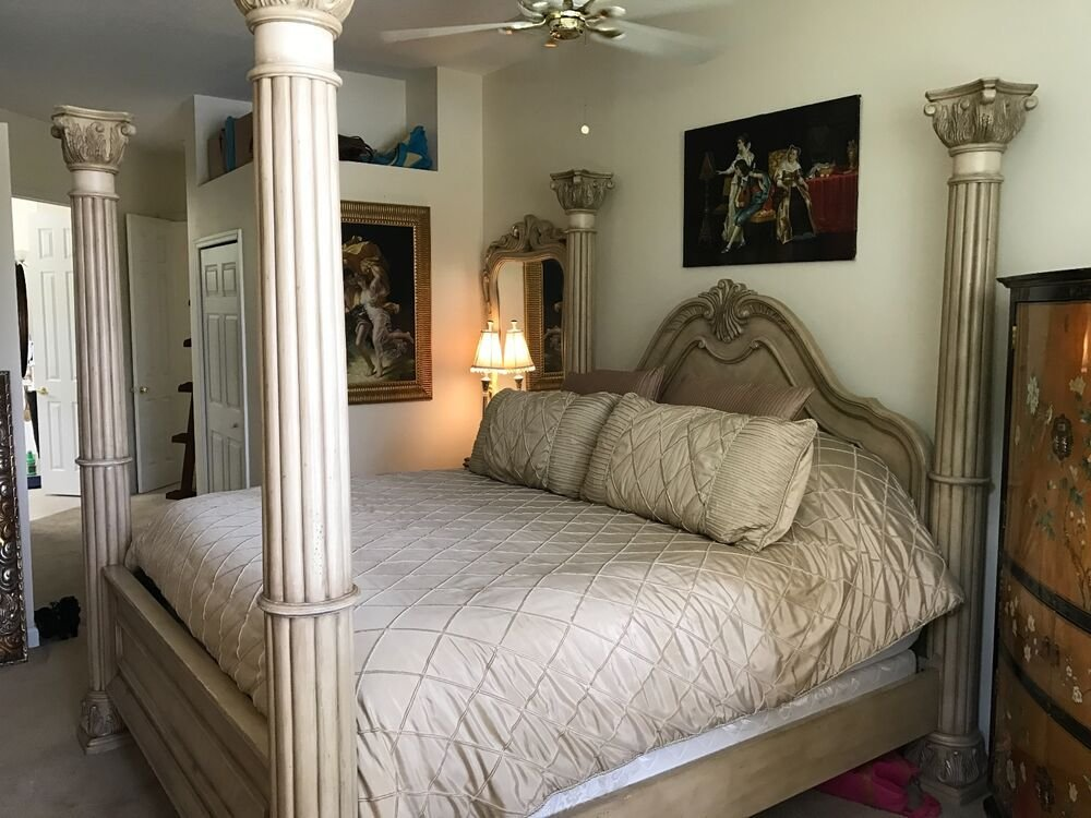 Best Baer S Furniture Luxury 4 Poster California King Bedroom Suite W Marble Was 10K Ebay With Pictures