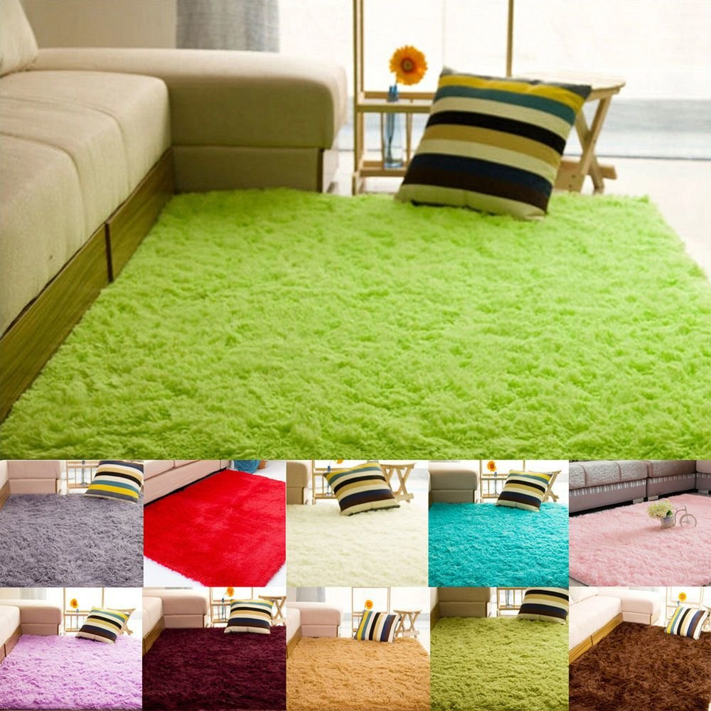 Best N Fluffy Rug Anti Slip Shaggy Area Rug Living Room Bedroom With Pictures