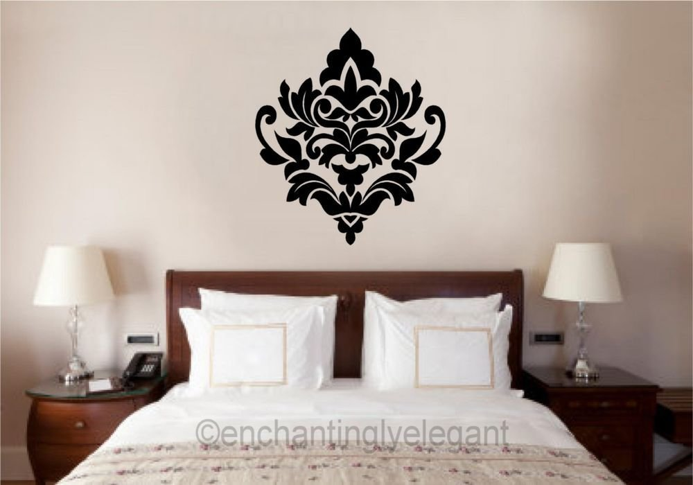Best Damask Embellishment Vinyl Decal Wall Sticker Master With Pictures