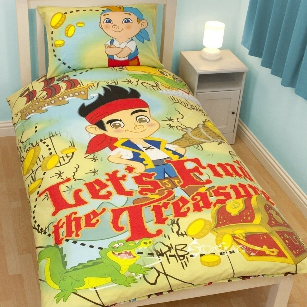 Best Jake And The Neverland Pirates Single Panel Duvet Cover With Pictures