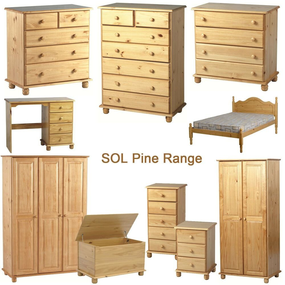 Best Sol Pine Bedroom Furniture Ebay With Pictures