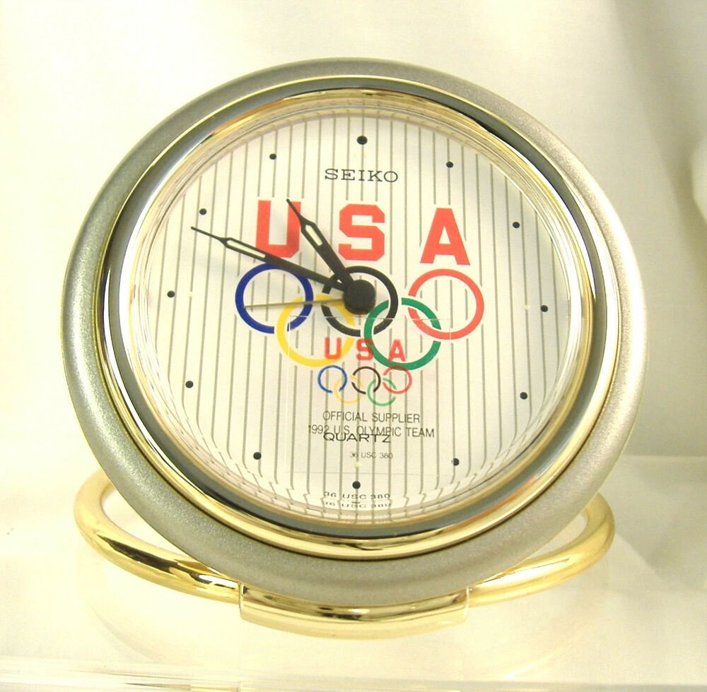 Best Seiko Quartz Olympic Travel Bedroom Alarm Clock Qqq184G Ebay With Pictures