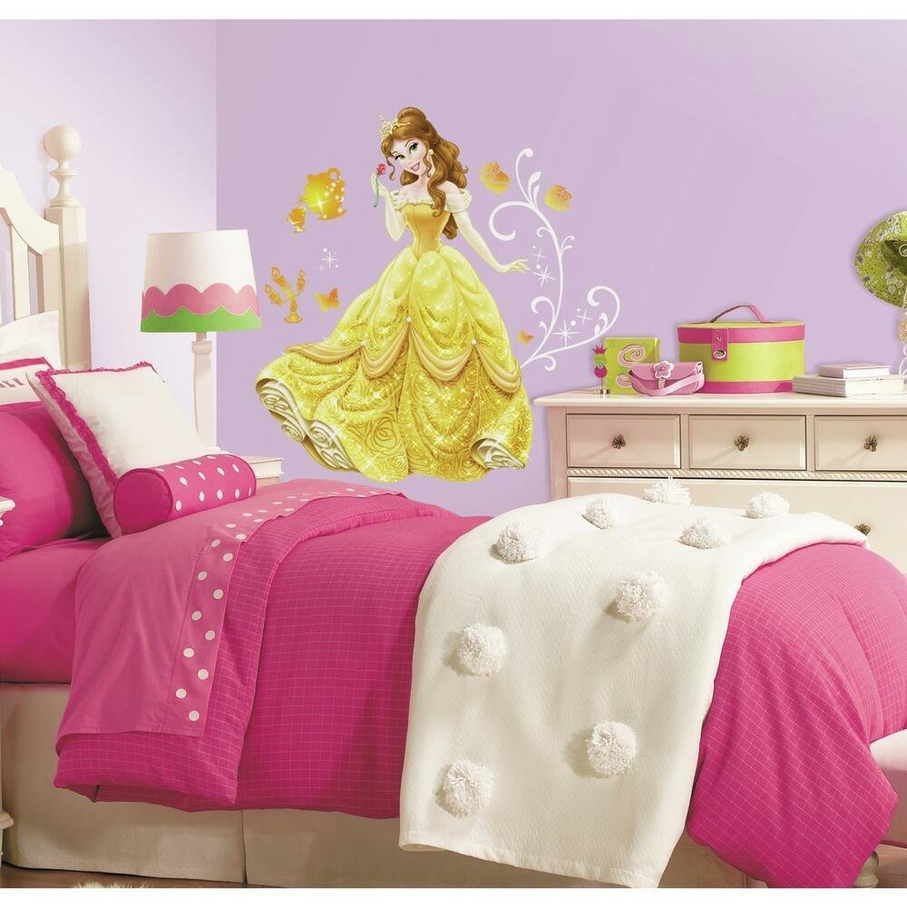 Best New Giant Belle Wall Decals Disney Princess Bell Stickers Girls Bedroom Decor Ebay With Pictures