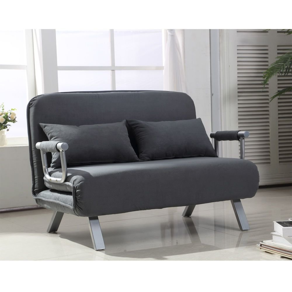 Best Homcom Convertible Sofa Bed Sleeper Lounger Chair Living With Pictures