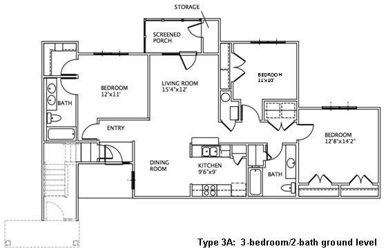 Best 3 Bedroom Floor Plans May River Village With Pictures