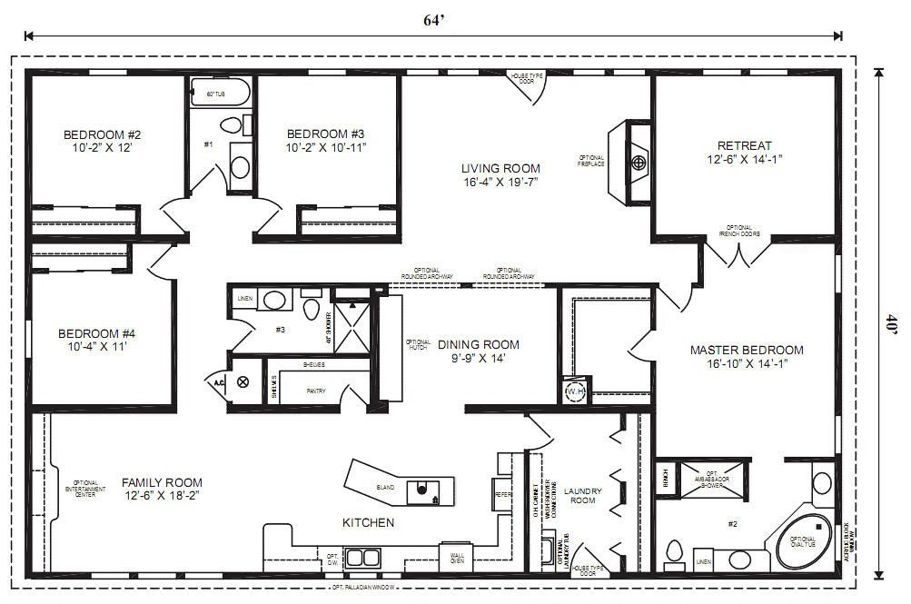 Best Modular Home Plans 4 Bedrooms Mobile Homes Ideas With Pictures