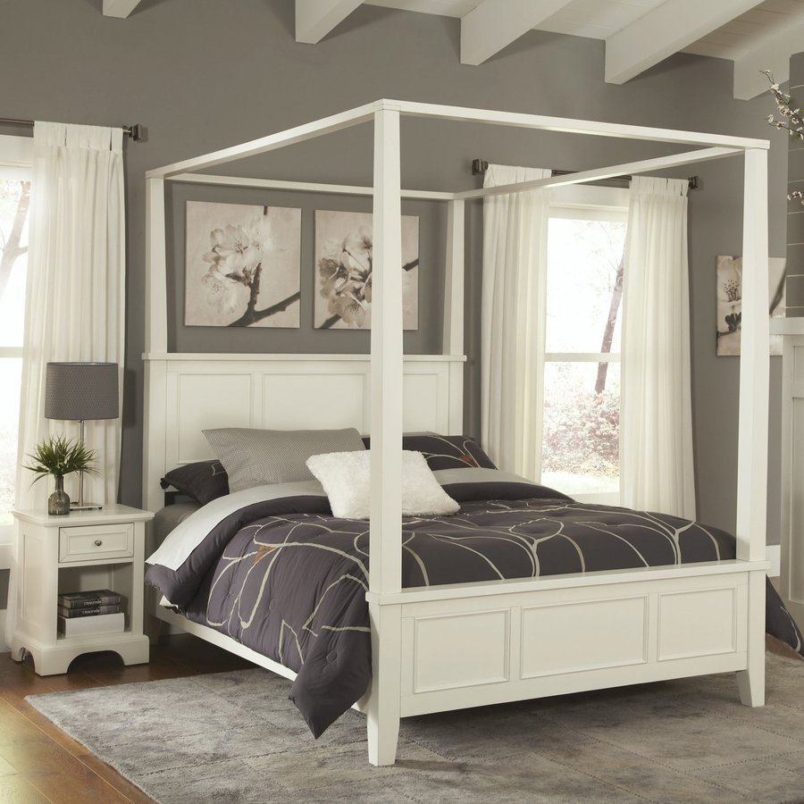 Best Shop Home Styles Naples White Queen Bedroom Set At Lowes Com With Pictures