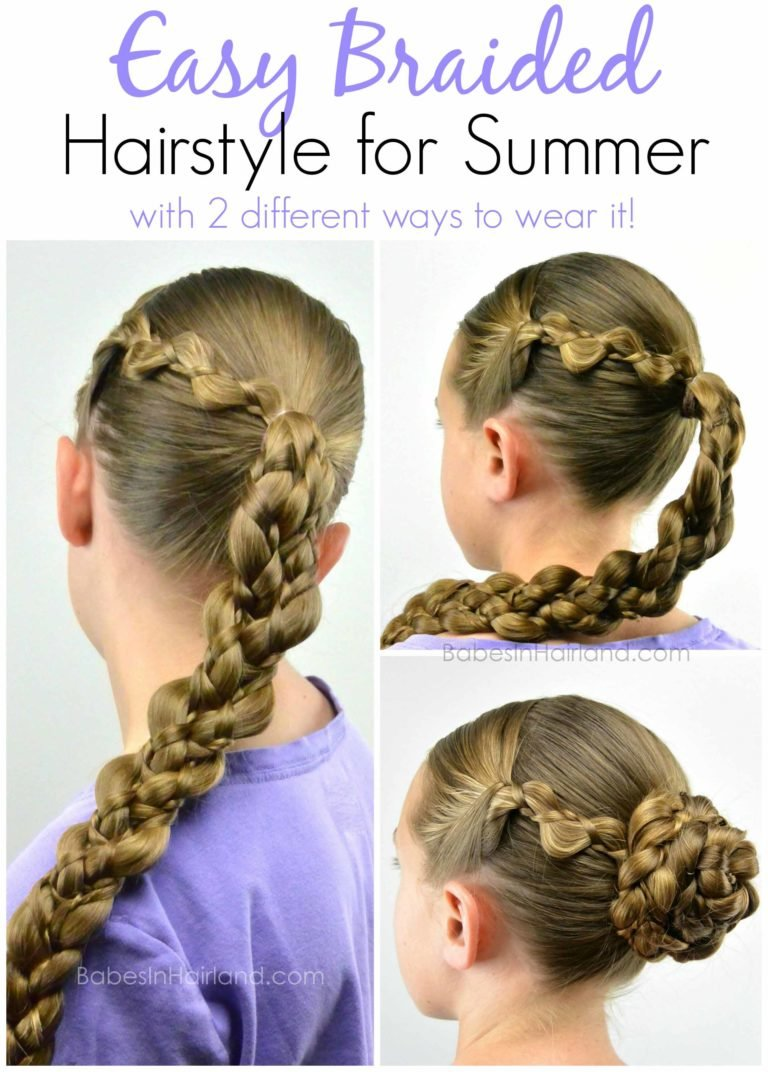 Free Easy Braided Style For Summer From Babesinhairland Com Wallpaper