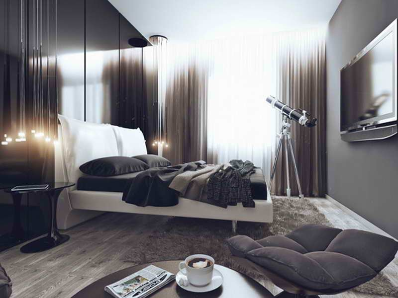 Best Bloombety Cool Gray Bachelor Pad Bedroom Ideas Bachelor Pad Bedroom Ideas With Pictures