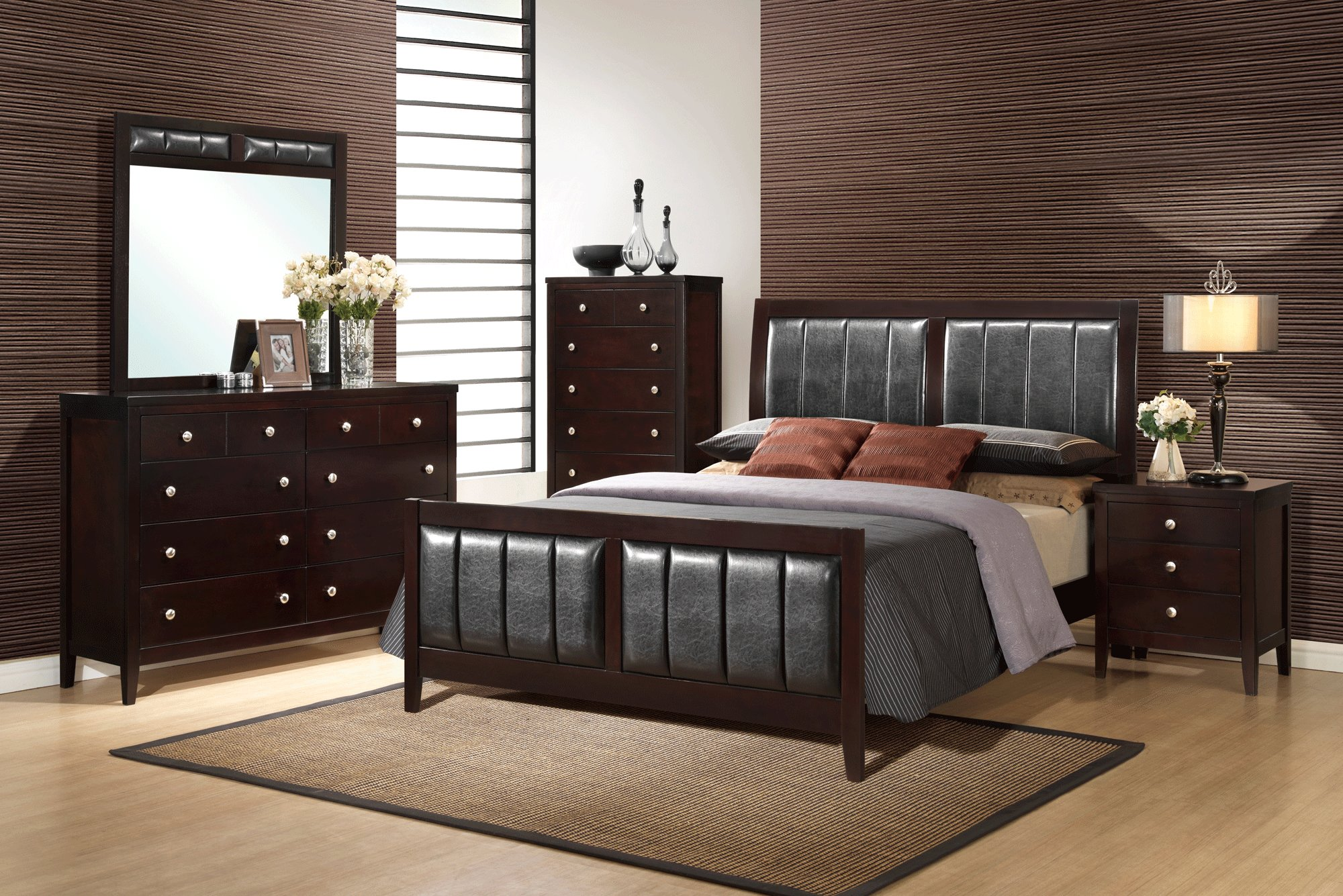 Best Rosa Antique Black Bedroom Set By Global Furniture With Pictures