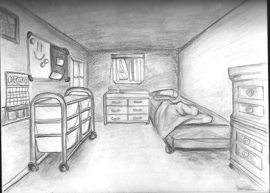 Best Bedroom One Point Perspective By Kakarot12 On Deviantart With Pictures